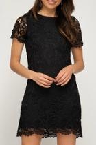 Crochet Lace-overlay Dress