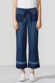 Denim-inspired Cropped Sweatpants
