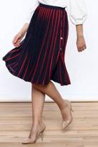Paris Pleated A-line Skirt