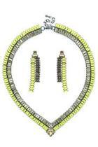 V Crystals Necklace