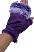 Fingerless Fur-trim Gloves
