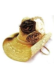 Fabric-rosette Cowgirl Hat