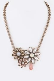 Crystal Flower Statement-necklace