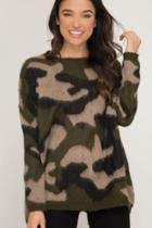 Pullover Camo Sweater