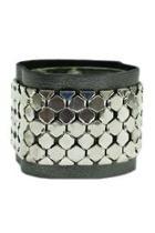 Leather-silver Bracelet