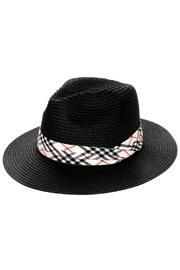 Plaid Straw Sun-hat