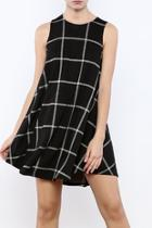 Black Windowpane Dress