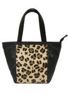 Satchel Leopard-print Leather