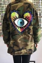 Love-protects Vintage-army-jacket