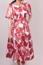 Red Flower Dress