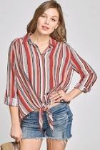 Striped Tiefront Top