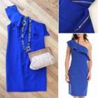 Ruffle Cobalt Dress