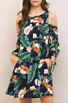 Cold Shoulder Hawaiian Dress