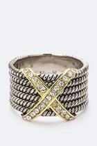 Two-tone Zirconia Ring