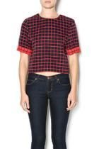 Checkered Boxy Top