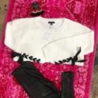 Ivory Laceup Sweater
