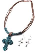 Multi String Cross-necklace