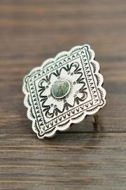 Natural-turquoise Concho Adjustable-ring