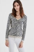 Leopard Vneck Sweater