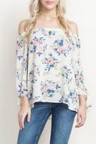 Floral Shoulder Blouse