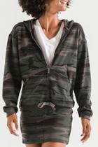 Camo Knit Hooded Jacket