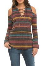 Cold Shoulder Stripe Top