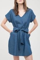 Vneck Chambray Dress
