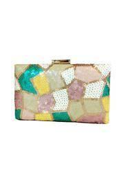 Sequins Box Clutch