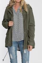 Olive Cargo Jacket