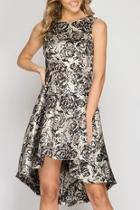 Metallic Hi-lo Dress