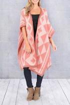 Pink Aztec Cardigan