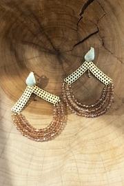 Semi-precious Draped Earrings