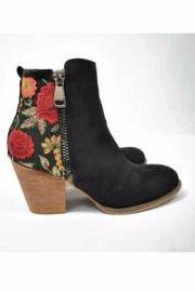 Embroidered Black Booties