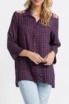 Embroidered Flannel Tunic