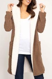 Hooded Shearling Fleece-coat