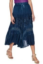 Chic Linen And Lace Skirt