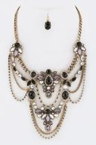 Layered Statement Necklace-set