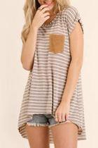 Striped Split Top
