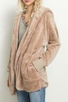 Taupe Sherpa Jacket