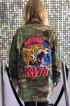 Kiss Patch Vintage-army-jacket