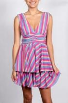 Neapolitan Striped Dress