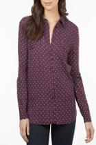 Wine Polka-dot Shirt