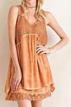 Layered Acidwash Dress