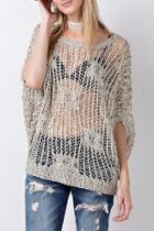 Crochet Knit Sweater Top