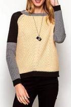 Contrast Colorblock Sweater