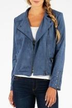 Eveline Vegan-suede Moto-jacket