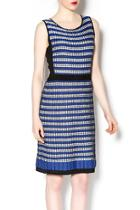 Blue Knit Sleeveless Dress