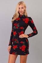 Mock Floral Dress