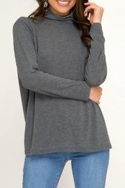 Turtle-neck Knit Top