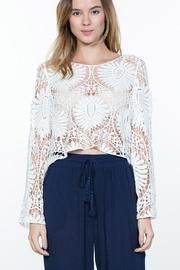 White Crochet-lace Top